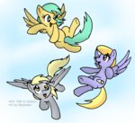 background_ponies blayaden cloudkicker derpy_hooves flying-fox raindrops