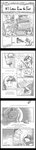 absurdres book comic grayscale highres kolshica library princess_luna spike tall_image twilight_sparkle