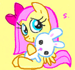 bunny filly fluttershy itchymango plushie toy