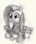 fluttershy grayscale medal sweater trophy turbosolid