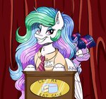 cake clothes faline glasses highres princess_celestia tie twilight_sparkle