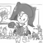 applejack crossover dark_helmet derpy_hooves fluttershy grayscale johnjoseco lyra_heartstrings main_six pinkie_pie princess_celestia princess_luna rainbow_dash rarity seaponies sketch spaceballs the_great_and_powerful_trixie toy twilight_sparkle