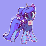 lolliponybrony princess_luna socks