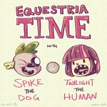 adventure_time equestria_girls humanized space-kid spike twilight_sparkle