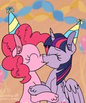 highres kiss pinkie_pie ponett shipping twilight_sparkle twinkie_pie