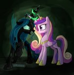 aanotherpony highres princess_cadance queen_chrysalis