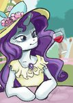 anthro dress flowers friendlystray glass hat magic rarity wine