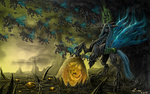 changeling highres queen_chrysalis scenery ziom05