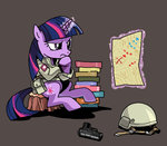book gun helmet hobbang magic map military pistol twilight_sparkle weapon