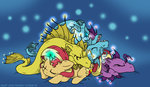 adagio_dazzle aria_blaze mustlovefrogs sleeping sonata_dusk sunset_shimmer the_dazzlings