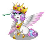 cloud-drawings crown princess_flurry_heart text