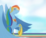 dress gala_dress huge_wings rainbow rainbow_dash scappo