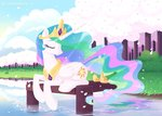 highres princess_celestia sonnatora trees water