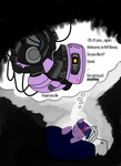 crossover glados portal sethturner sleeping twilight_sparkle