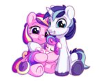 bobdude0 princess_cadance princess_flurry_heart shining_armor