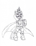 armor artist_unknown dr._doom lineart marvel_comics ponified sketch