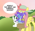 angel egophiliac fluttershy socks the_great_and_powerful_trixie