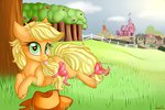 :p applejack highres shyshyoctavia sweet_apple_acres