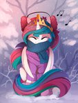 earmuffs highres princess_celestia scarf sweater winter yakovlev-vad