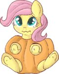 baby costume filly fluttershy lowres lulubellct pumpkin
