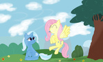 absurdres fluttershy highres mikoruthehedgehog the_great_and_powerful_trixie