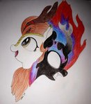 autumn_blaze highres kirin nirik sirbevian traditional_art