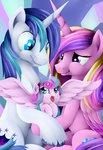 absurdres baby grennadder highres princess_cadance princess_flurry_heart shining_armor