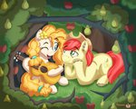 apples bright_mac flowers guitar highres pear_butter pears pegasusjedi trees