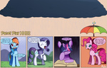 book bukoya-star comic pinkie_pie rain rainbow_dash rarity twilight_sparkle umbrella wet_hair
