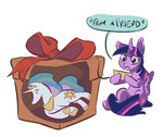 box leavingcrow plushie present princess_celestia princess_twilight toy twilight_sparkle