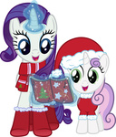book boots christmas coat hat highres magic rarity santa_hat scarf singing stabzor sweetie_belle transparent vector