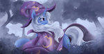 fluttersheeeee highres mist the_great_and_powerful_trixie trees