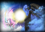 contrast elements_of_harmony highres nightmare_moon princess_celestia ryuukiba