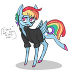 clothes highres jellybeanbullet rainbow_dash shirt