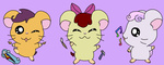 apple_bloom cutie_mark_crusaders hamster hamtaro hikarixxkh scootaloo species_swap sweetie_belle