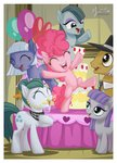 cloudy_quartz filly highres igneous_rock limestone_pie marble_pie maud_pie mysticalpha parents pinkie_pie siblings