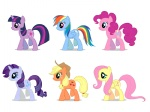 animated applejack artist_unknown fluttershy gait main_six pinkie_pie rainbow_dash rarity twilight_sparkle walk_cycle