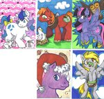 big_macintosh chicken derpy_hooves frog g1 gingerbread_(g1) owlowiscious princess_twilight skypinpony slugger twilight_sparkle twinkle-eyed