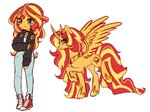 alicorn equestria_girls highres humanized pantypon sunset_shimmer