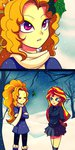 absurdres adagio_dazzle comic equestria_girls highres holly humanized jack-a-lynn scarf shipping snow sunset_shimmer