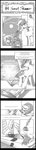 absurdres book comic grayscale highres inkwell kolshica princess_celestia quill sunset_shimmer tall_image