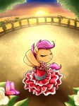 butterfly dancing dress madmax scootaloo sunrise