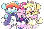 applejack fluttershy main_six pinkie_pie rainbow_dash rarity sourspot twilight_sparkle