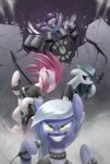 drums guitar highres i_shall_not_use_my_hooves_as_hands limestone_pie marble_pie maud_pie pinkie_pie siblings underpable