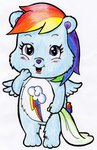 care_bears crossover highres rainbow_dash warumono198