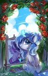 colorfulcolor233 flowers highres magic original_character paint paintbrush painting princess_twilight twilight_sparkle