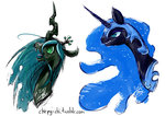 chirpy-chi nightmare_moon queen_chrysalis