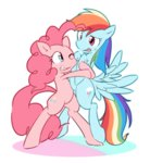 akainu7 highres hugs pinkie_pie rainbow_dash