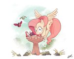 absurdres bird bird_bath docwario fluttershy highres pegasi_acting_like_birds