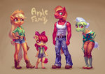 anthro apple_bloom applejack big_macintosh granny_smith holivi